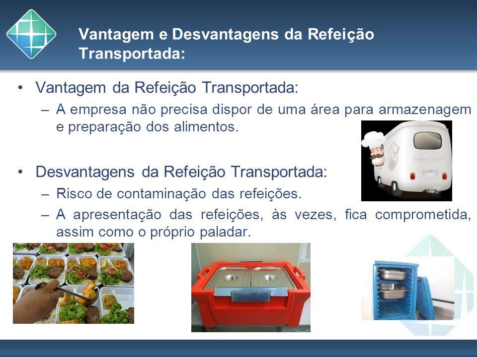 Vantagem e Desvantagens da Refeição Transportada: