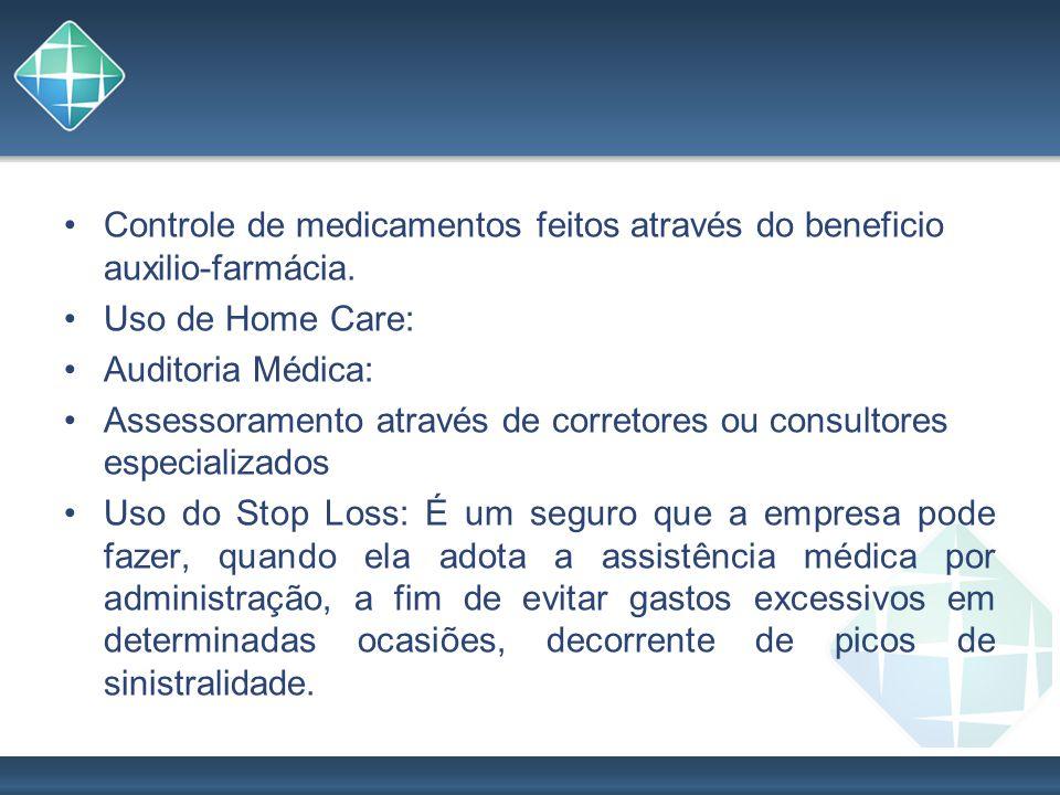 Controle de medicamentos feitos através do beneficio auxilio-farmácia.