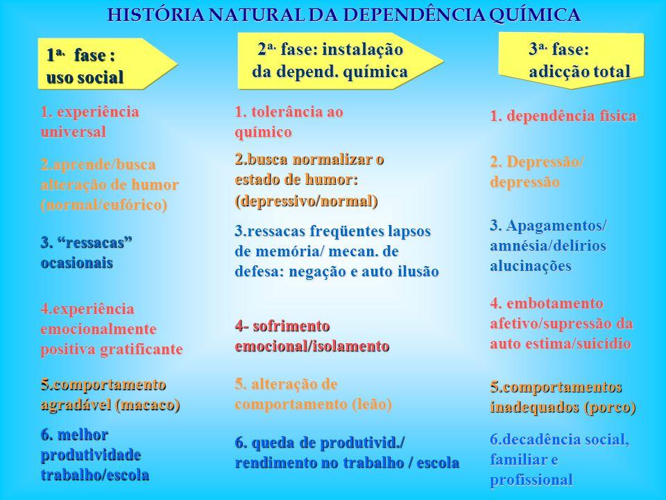 HISTÓRIA NATURAL DA DEPENDÊNCIA QUÍMICA
