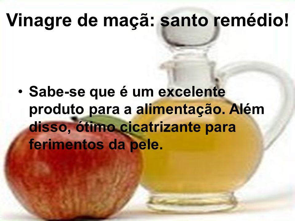 Vinagre de maçã: santo remédio!