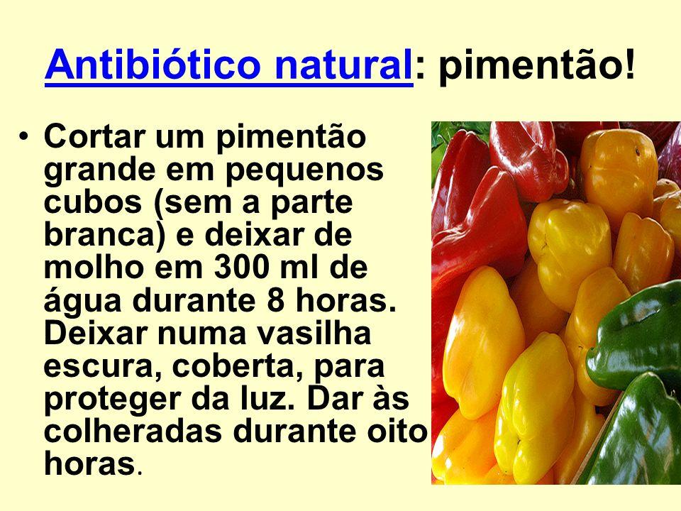 Antibiótico natural: pimentão!