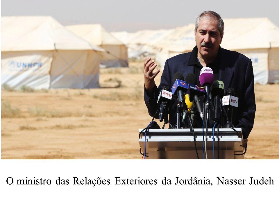 O ministro das Relações Exteriores da Jordânia, Nasser Judeh