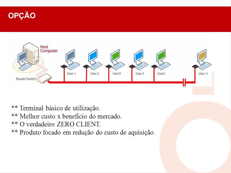 OPÇÃO ** Terminal básico de utilização.