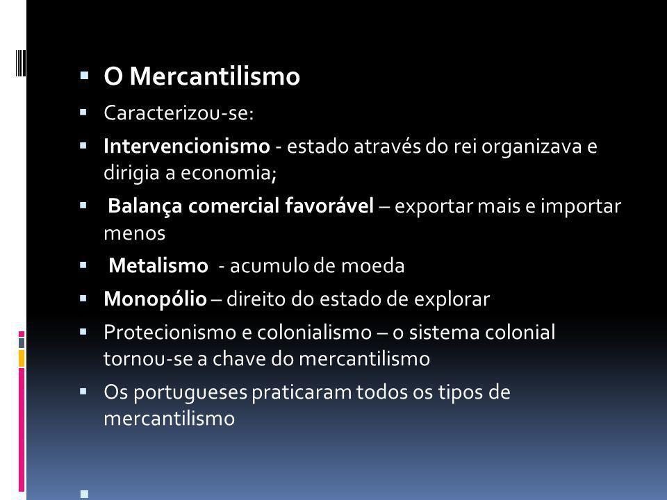O Mercantilismo Caracterizou-se: