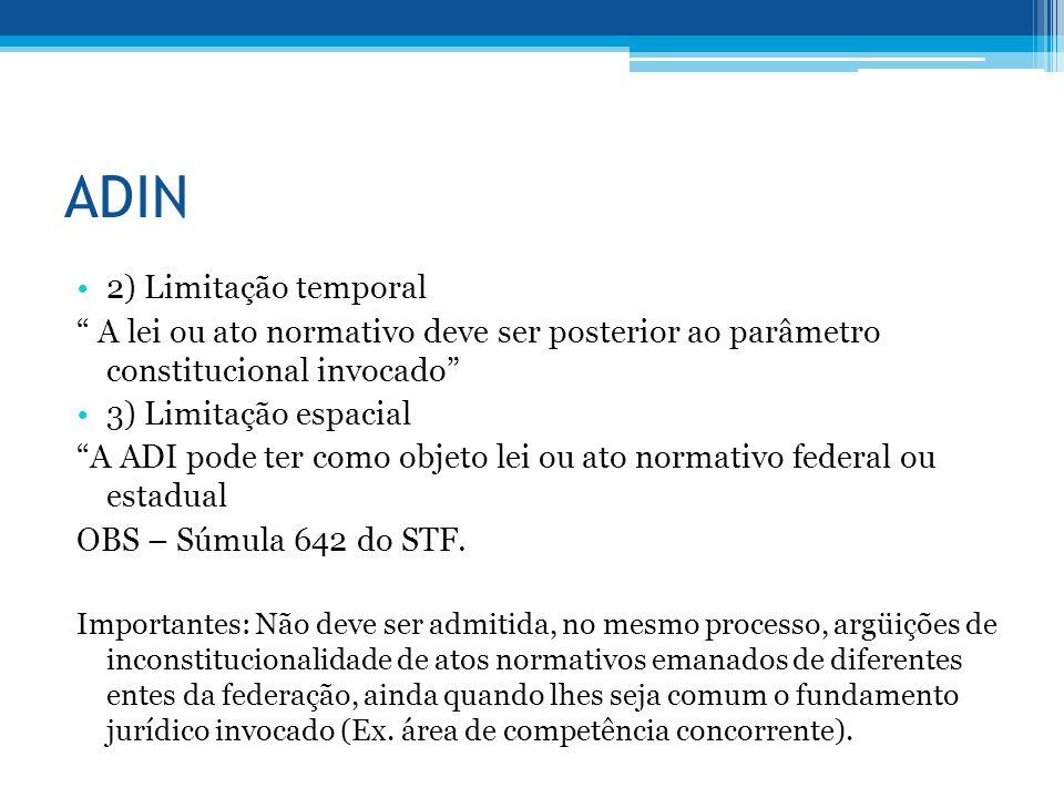 ADIN 2) Limitação temporal