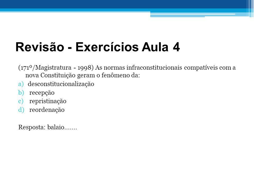 Revisão - Exercícios Aula 4