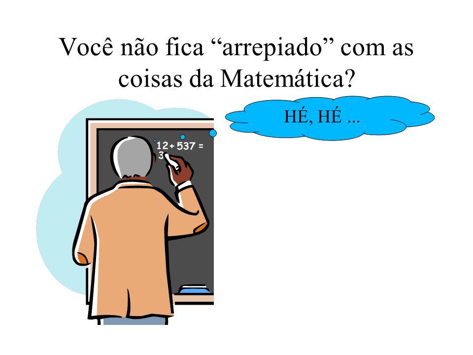 Você não fica arrepiado com as coisas da Matemática