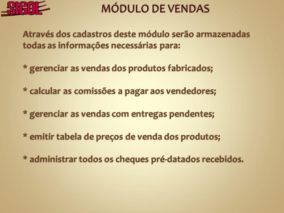 MÓDULO DE VENDAS