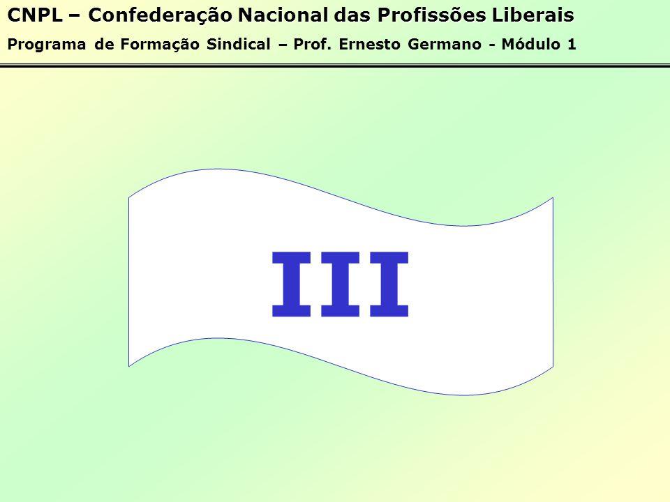III CNPL – Confederação Nacional das Profissões Liberais