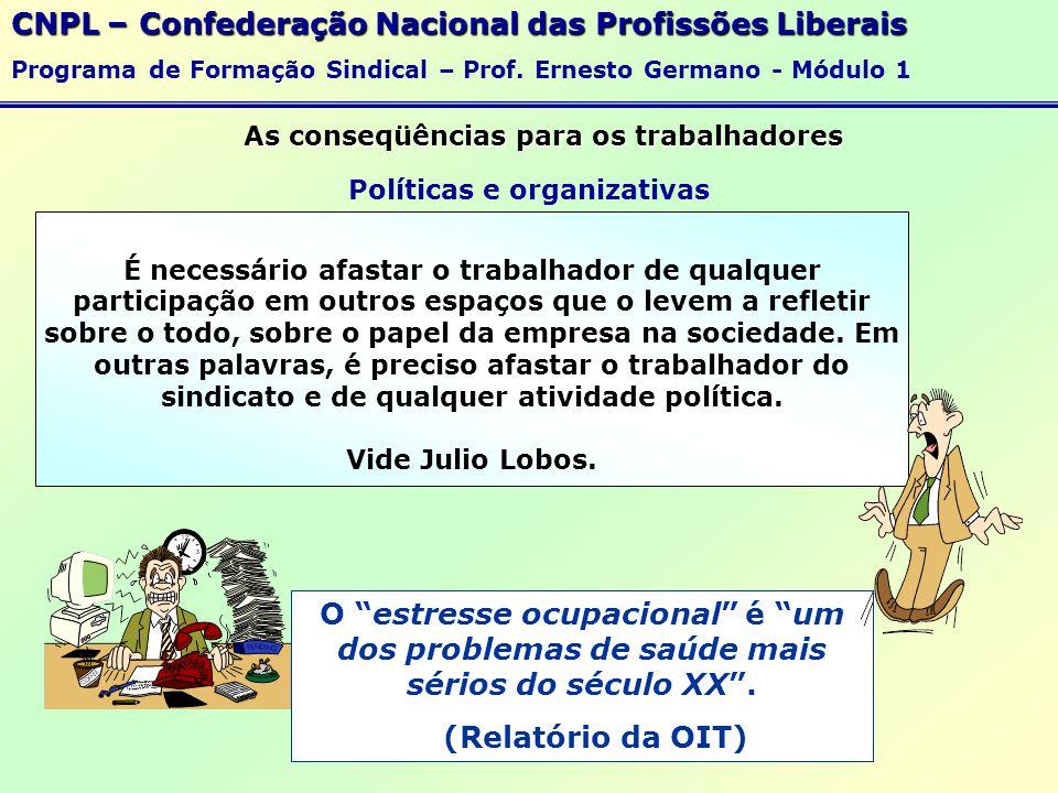 As conseqüências para os trabalhadores Políticas e organizativas