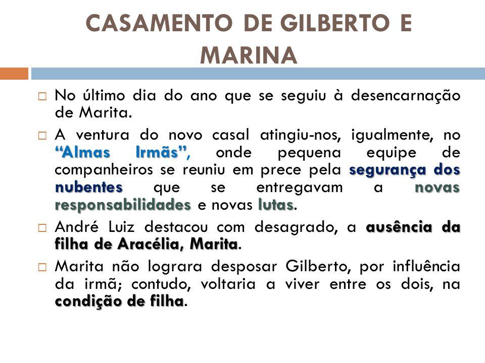 CASAMENTO DE GILBERTO E MARINA