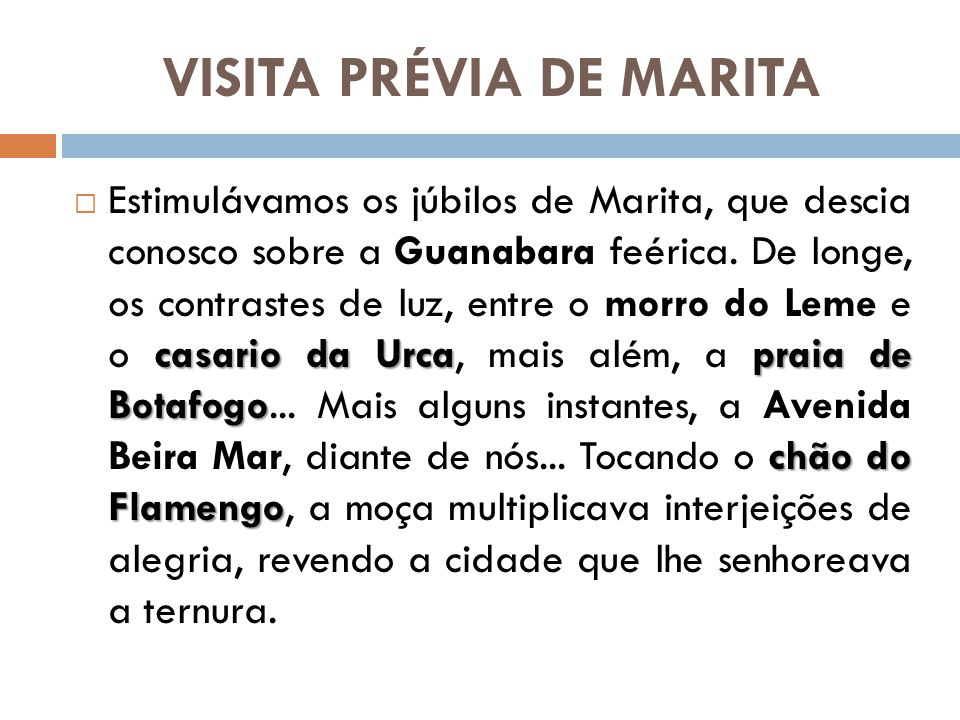 VISITA PRÉVIA DE MARITA