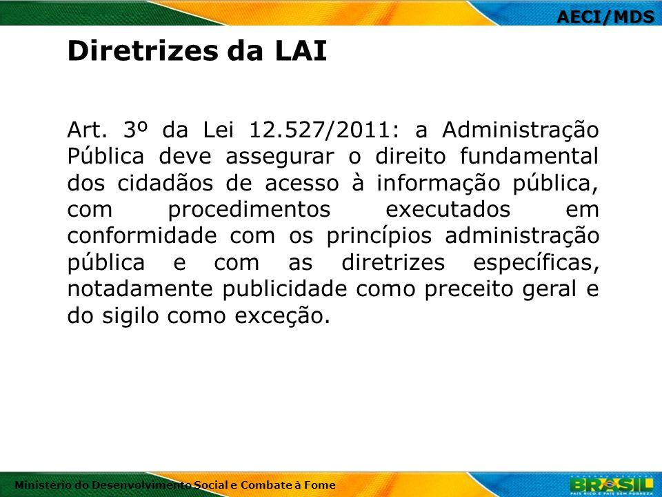 AECI/MDS Diretrizes da LAI.