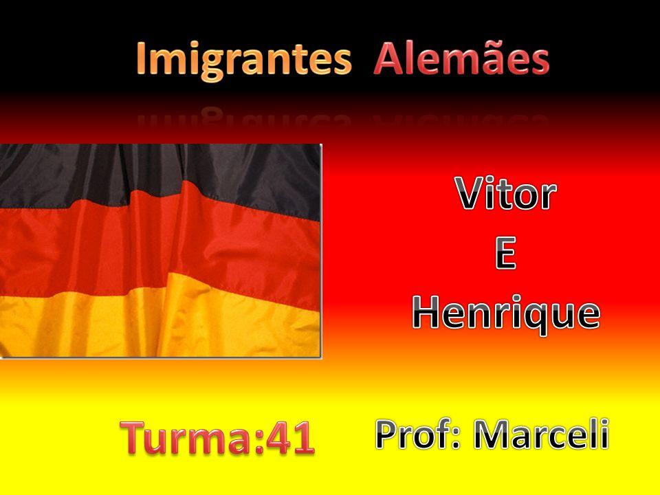 Imigrantes Alemães Vitor E Henrique Turma:41