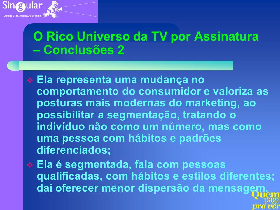O Rico Universo da TV por Assinatura – Conclusões 2