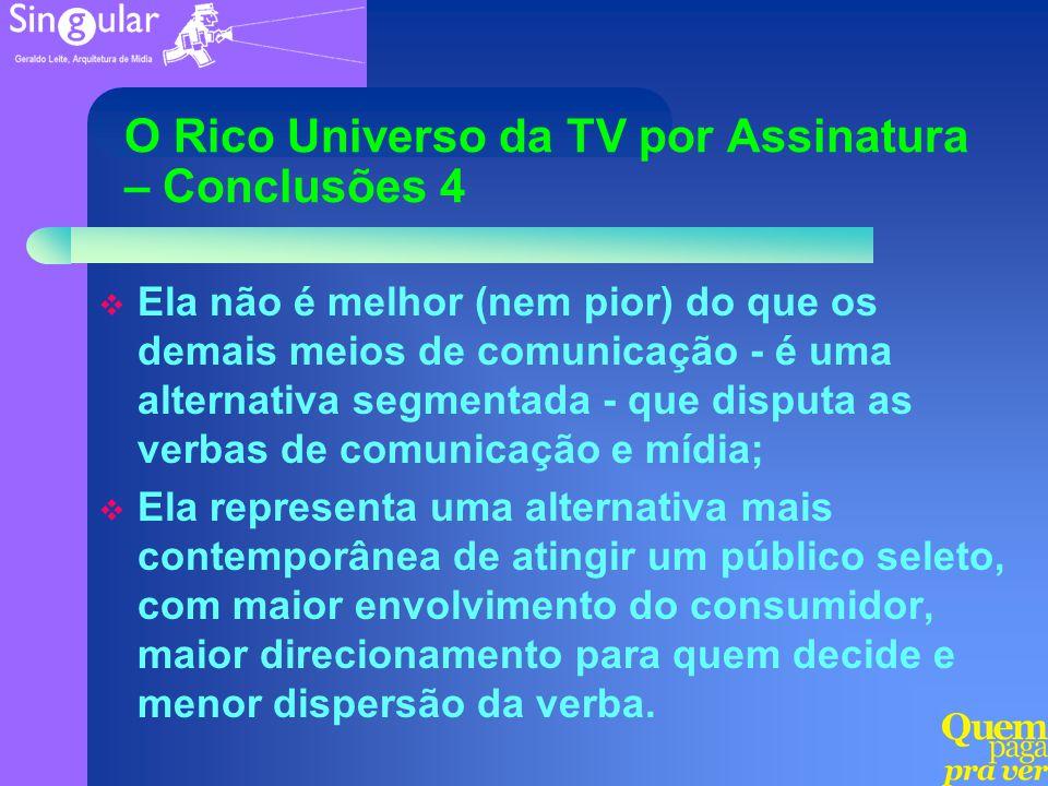 O Rico Universo da TV por Assinatura – Conclusões 4