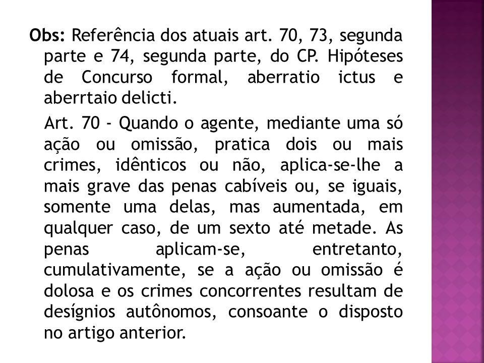 Obs: Referência dos atuais art