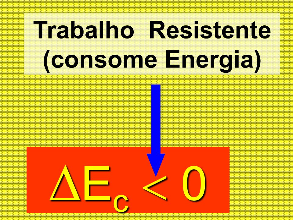 Trabalho Resistente (consome Energia)