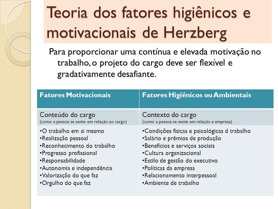 Teoria dos fatores higiênicos e motivacionais de Herzberg