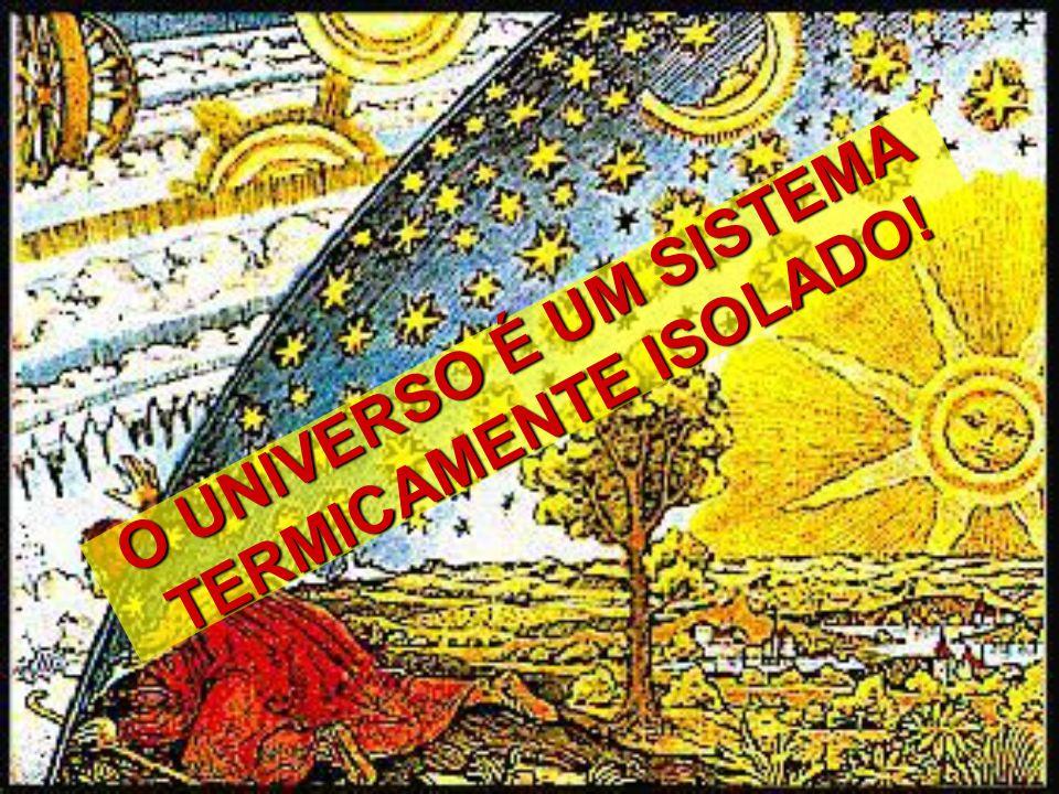 O UNIVERSO É UM SISTEMA TERMICAMENTE ISOLADO!