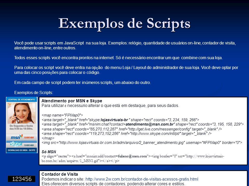Exemplos de Scripts
