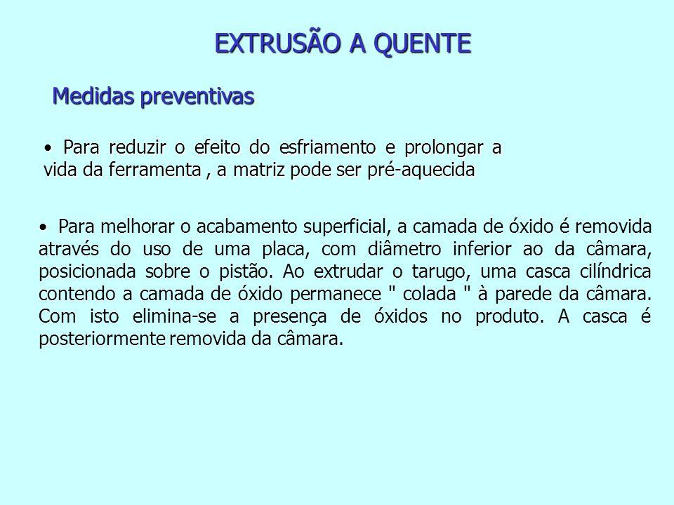 EXTRUSÃO A QUENTE Medidas preventivas