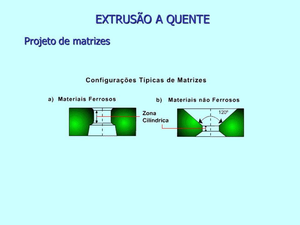 EXTRUSÃO A QUENTE Projeto de matrizes