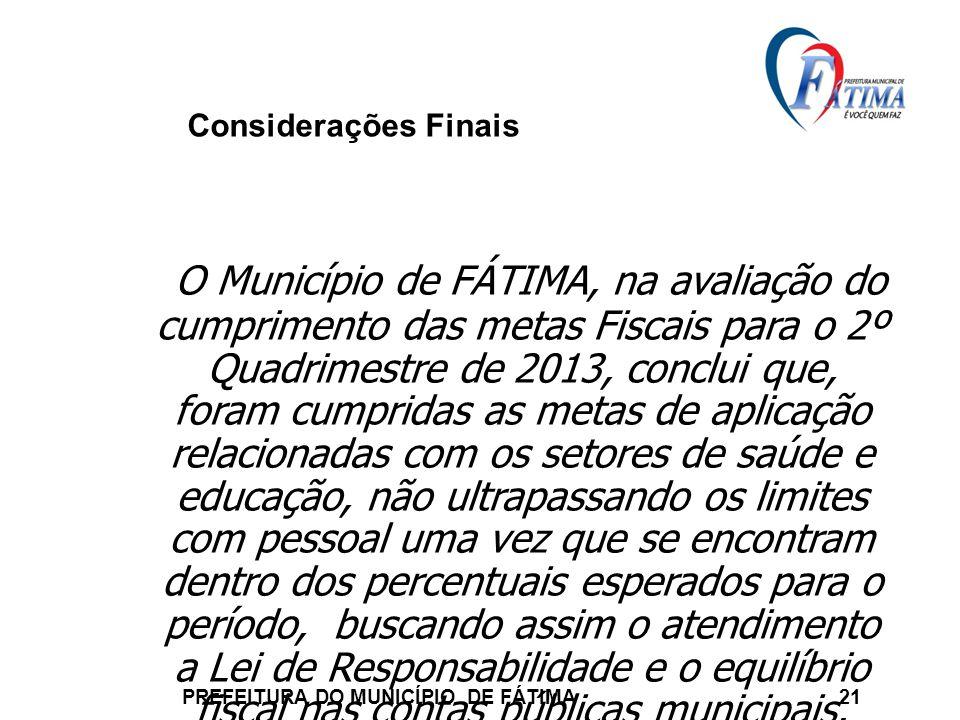 PREFEITURA DO MUNICÍPIO DE FÁTIMA 21