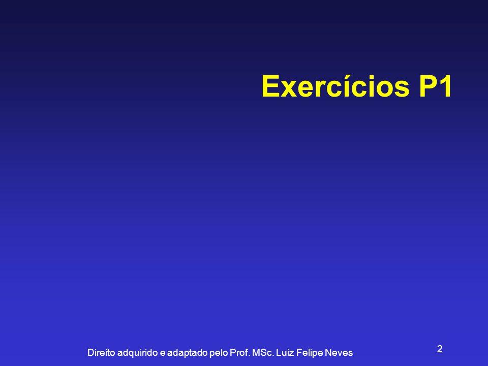 Exercícios P1