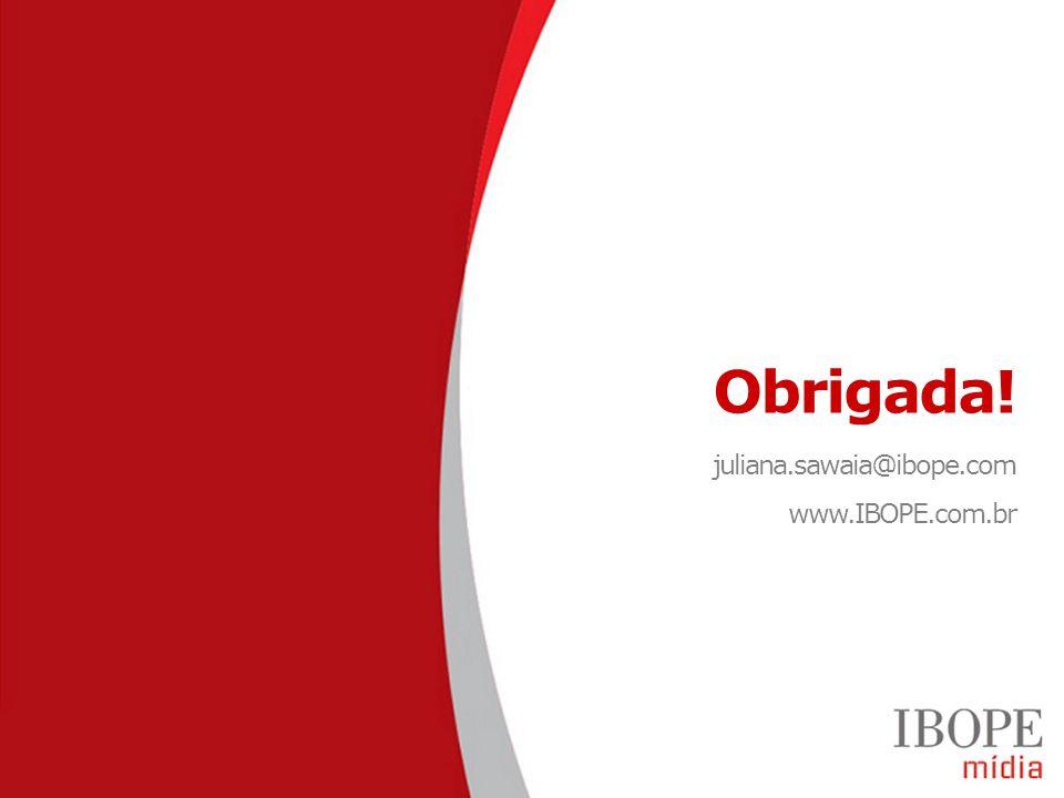 Obrigada! juliana.sawaia@ibope.com www.IBOPE.com.br