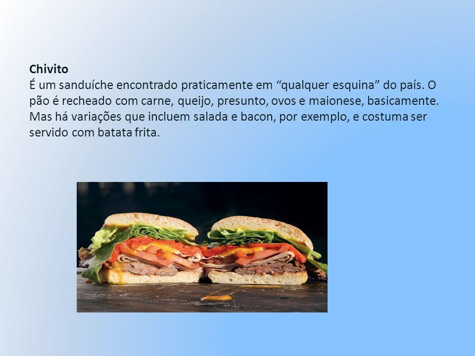 Chivito É um sanduíche encontrado praticamente em qualquer esquina do país.
