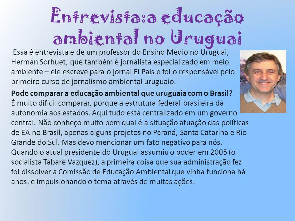 Entrevista:a educação ambiental no Uruguai