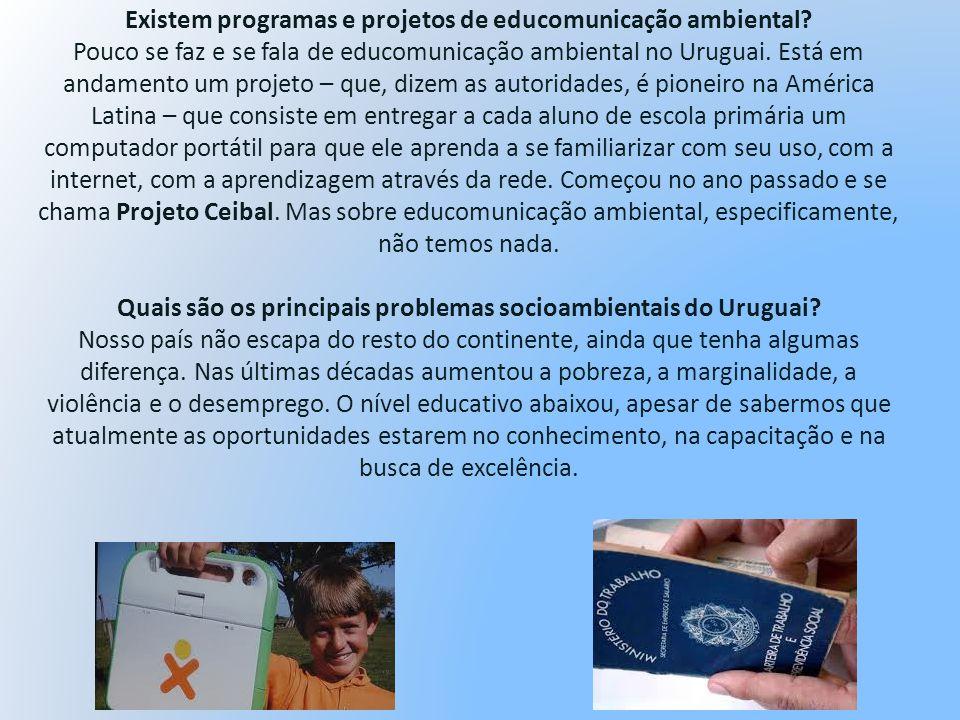 Existem programas e projetos de educomunicação ambiental