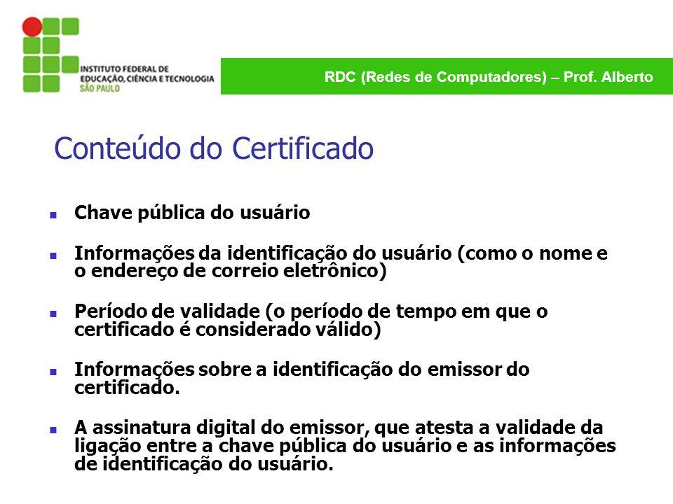 Conteúdo do Certificado