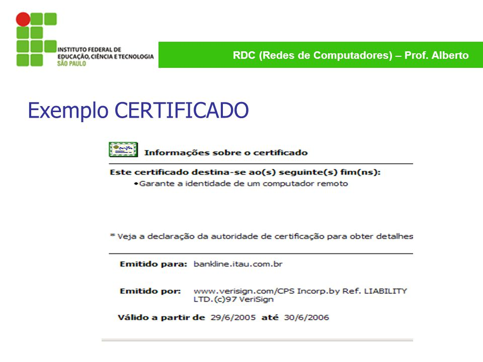 Exemplo CERTIFICADO