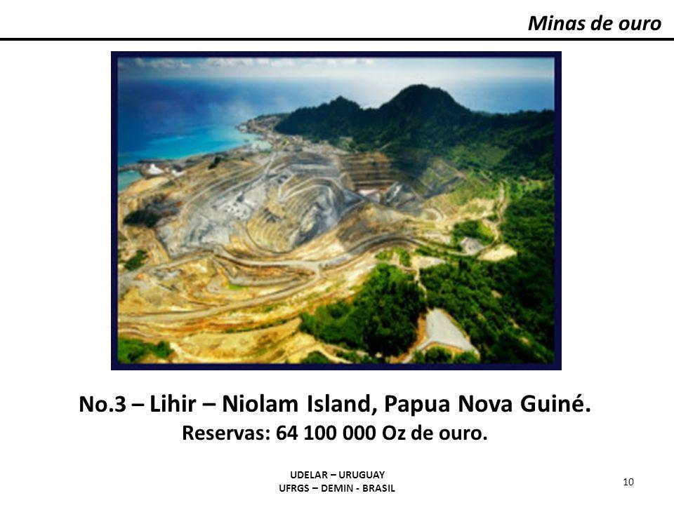 Minas de ouro #3 | LIHIR | 64,100,000 Oz Gold.