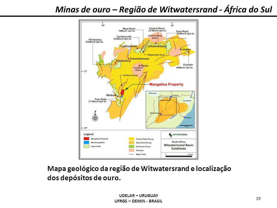 Minas de ouro – Região de Witwatersrand - África do Sul