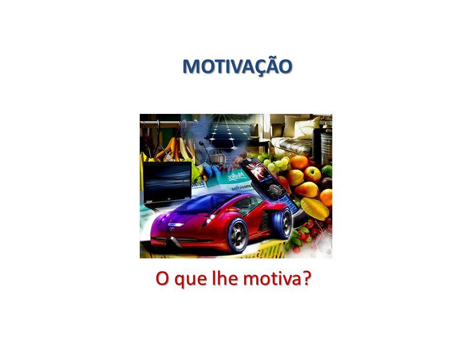 MOTIVAÇÃO O que lhe motiva