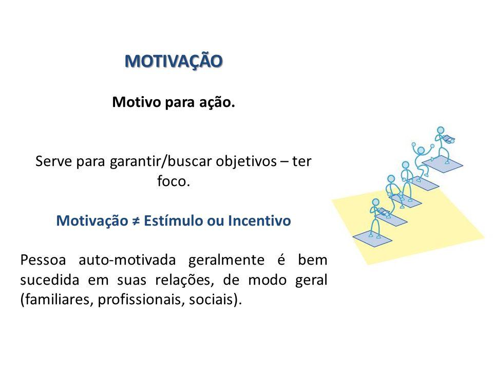 Motivação ≠ Estímulo ou Incentivo