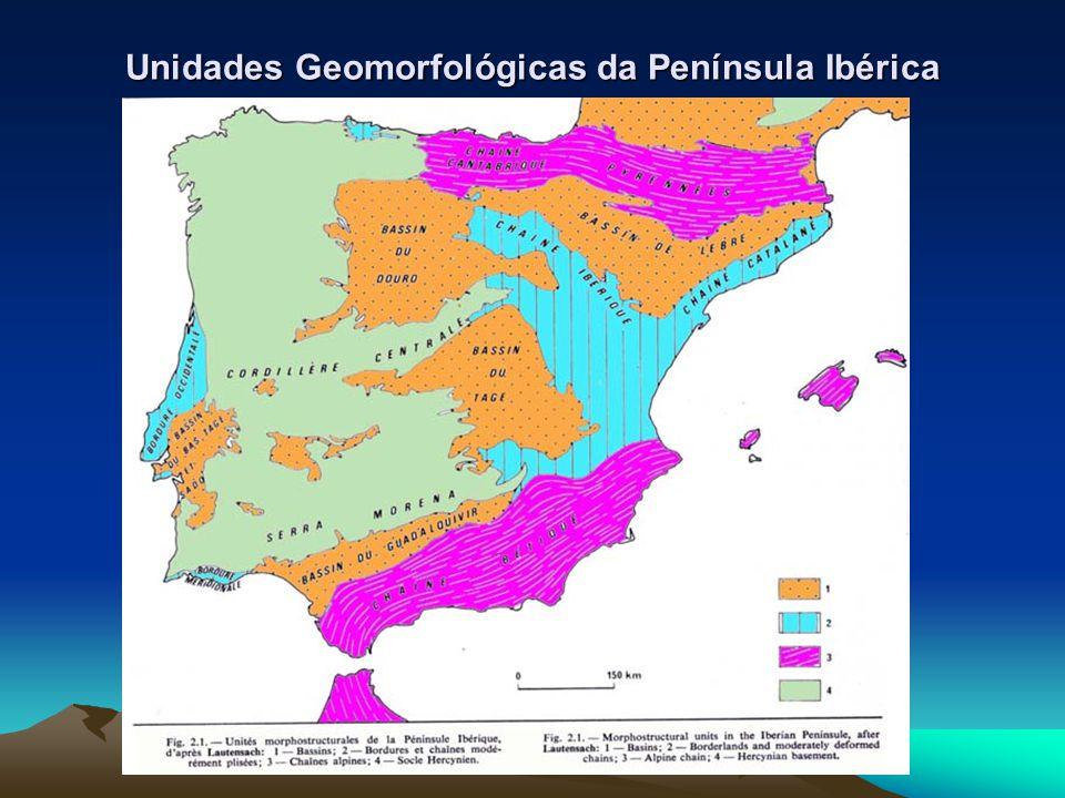 Unidades Geomorfológicas da Península Ibérica