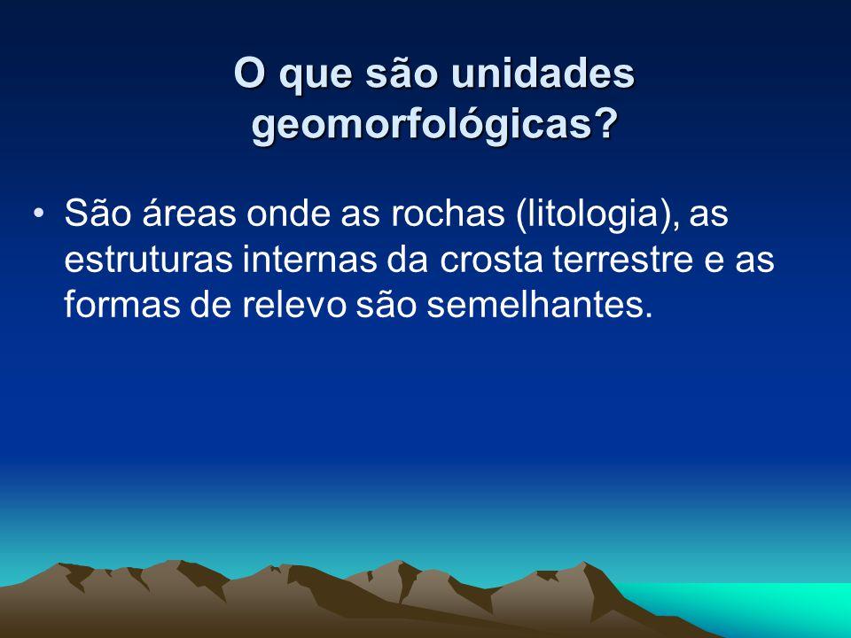 O que são unidades geomorfológicas