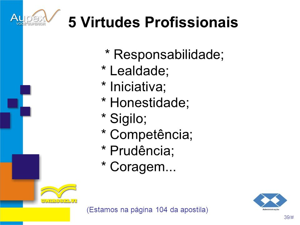 5 Virtudes Profissionais