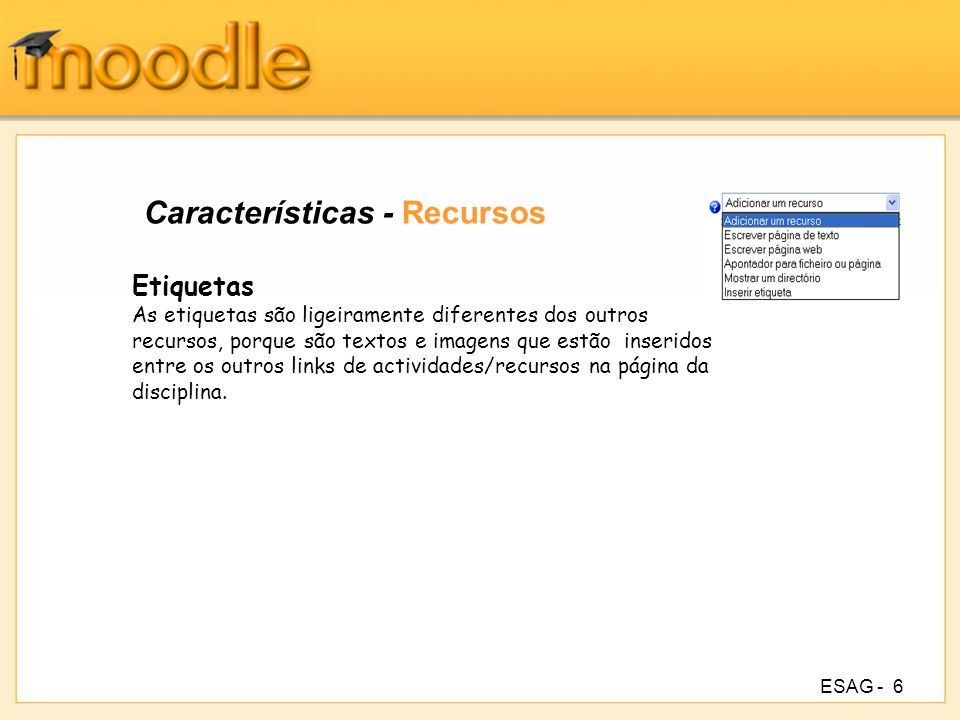 Características - Recursos