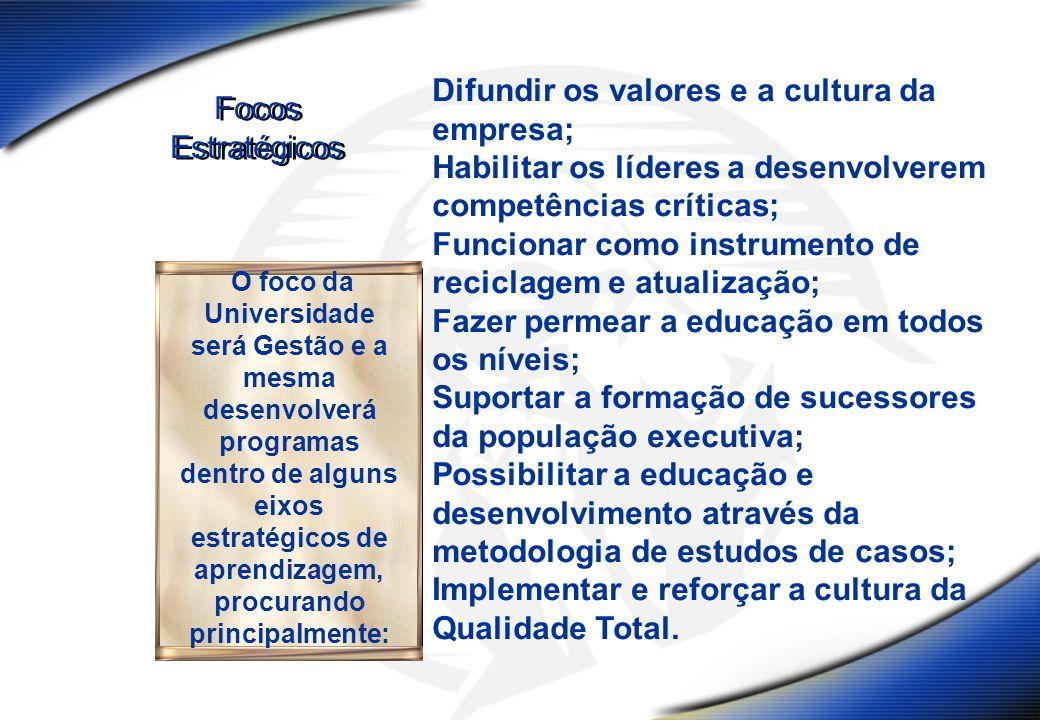 Difundir os valores e a cultura da empresa;