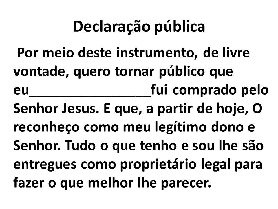 Declaração pública