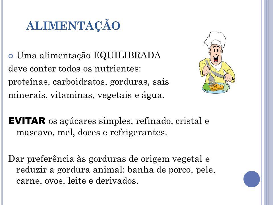 ALIMENTAÇÃO Uma alimentação EQUILIBRADA