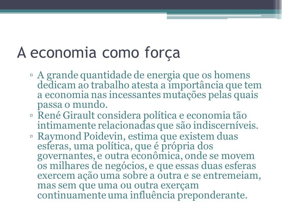 A economia como força