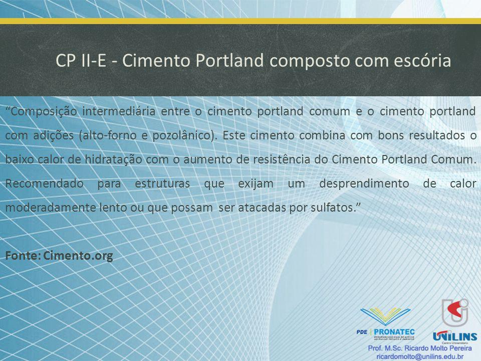 CP II-E - Cimento Portland composto com escória