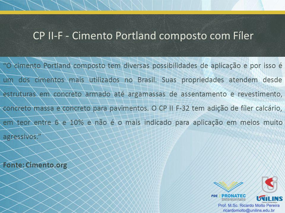 CP II-F - Cimento Portland composto com Fíler