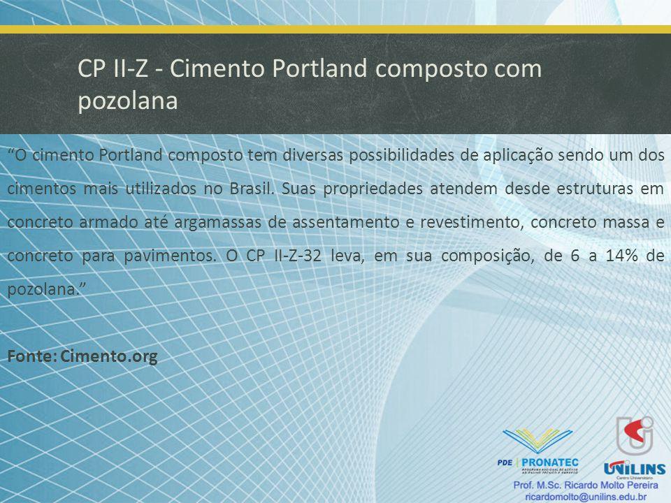 CP II-Z - Cimento Portland composto com pozolana